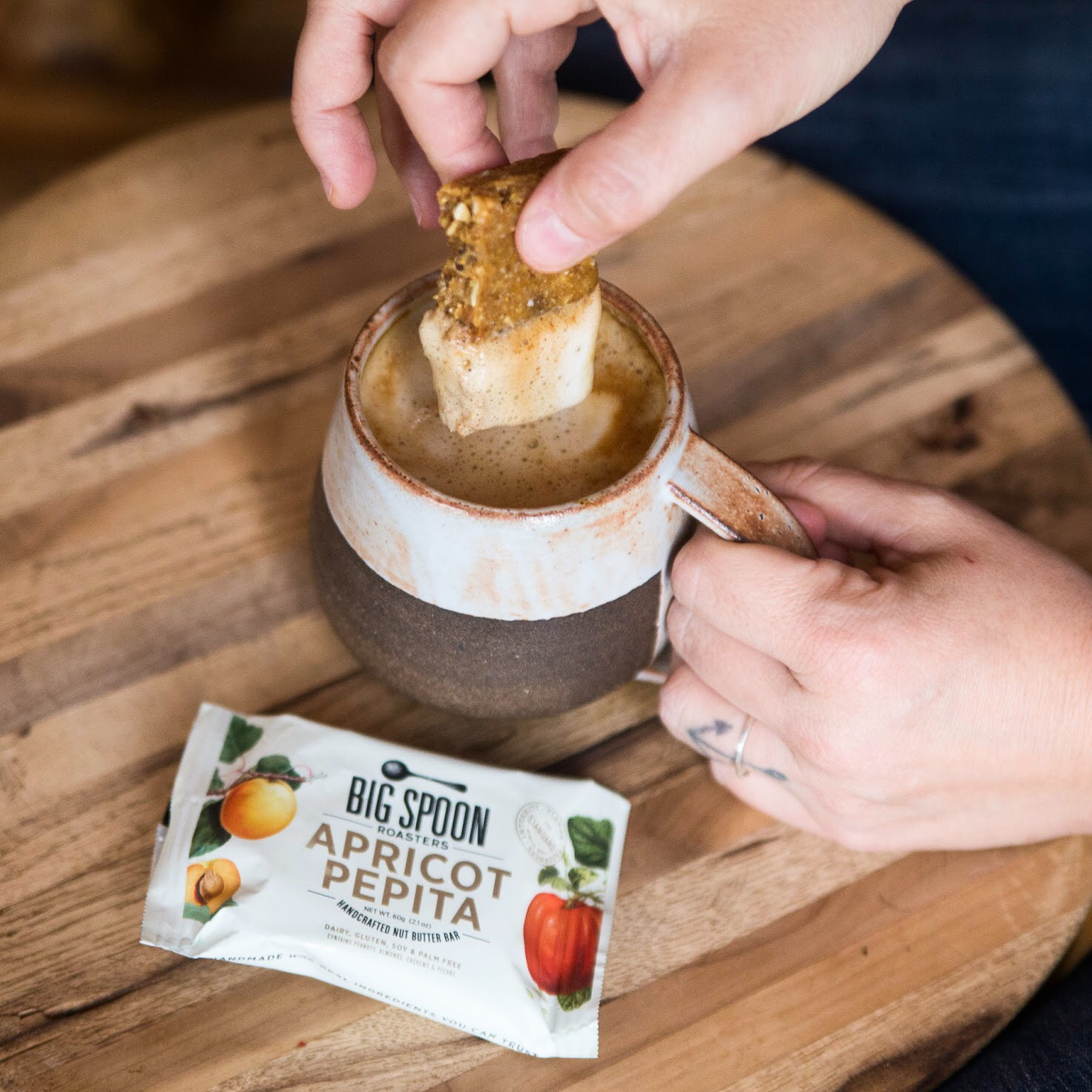 Big Spoon Roasters' handcrafted Apricot Pepita butter bar. (Photo courtesy of Big Spoon Roasters)