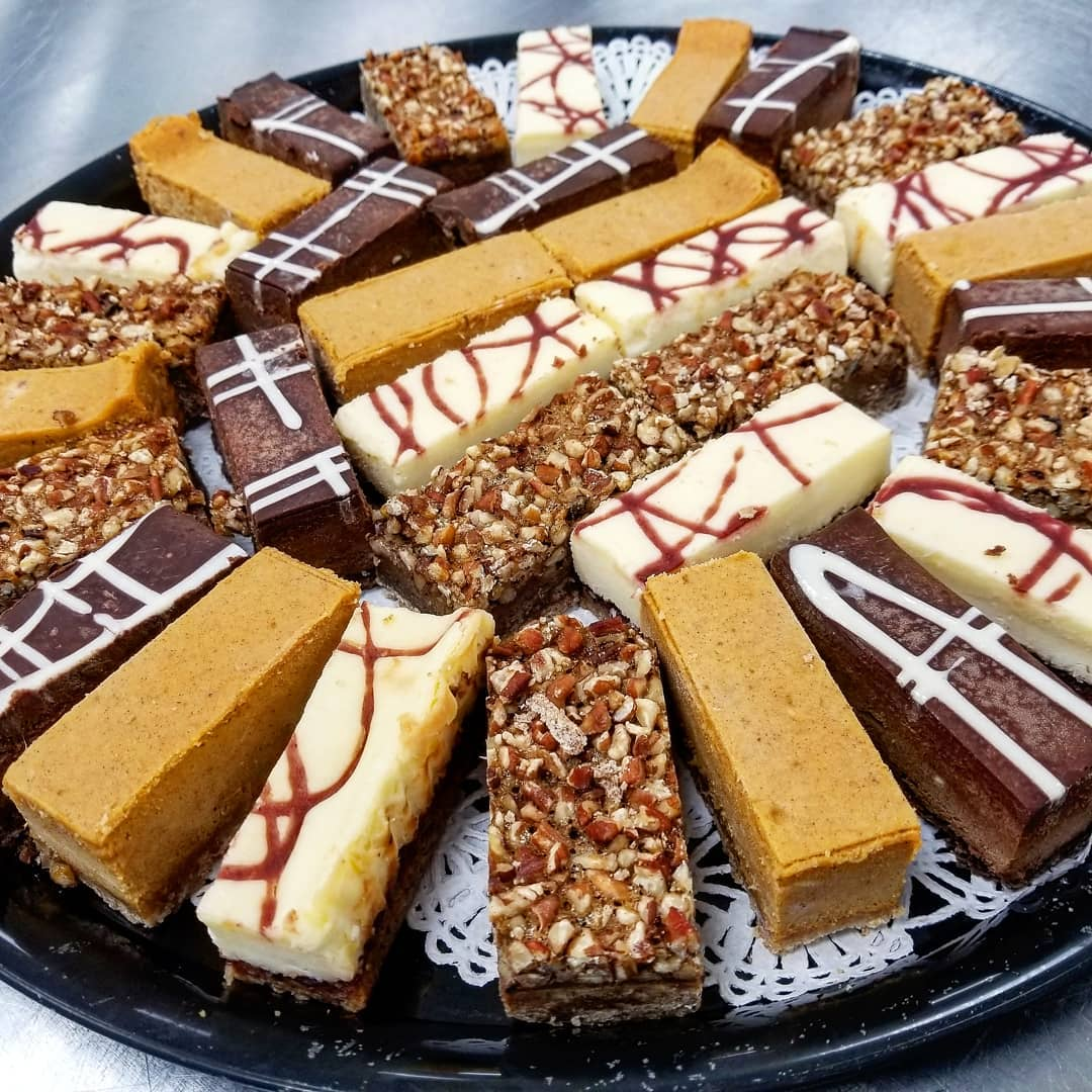 A gluten-free bar platter from JP's Pastry. Photo source: JP's Pastry