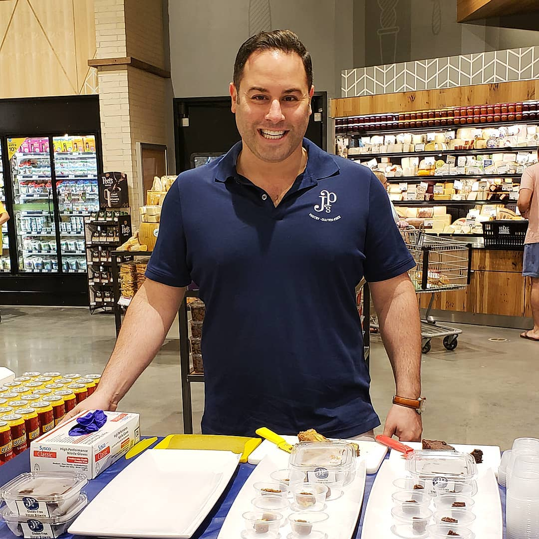 Joe Parker (JP), owner of JP's Pastry, serves up pastry samples. Photo source: JP's Pastry